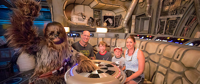 Disneyland welcomes the millionth rider on its Millennium Falcon
