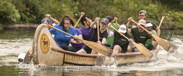Disneyland cast comes together for its annual canoe races