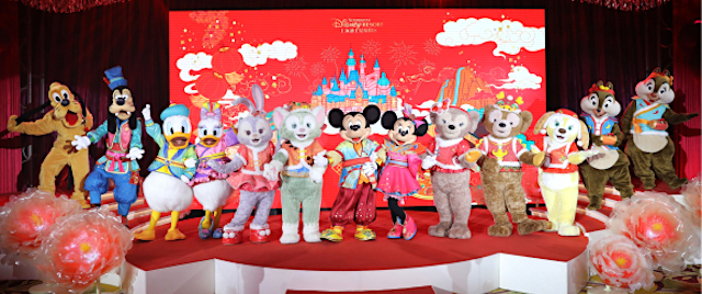 Mickey and Friends' Spring Festival costumes