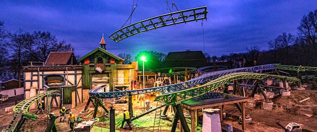 Efteling completes the track for its new family coaster