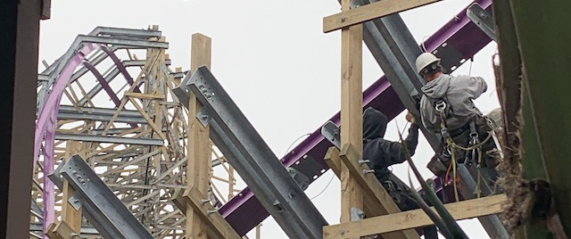 Go behind the walls for a construction tour of Iron Gwazi