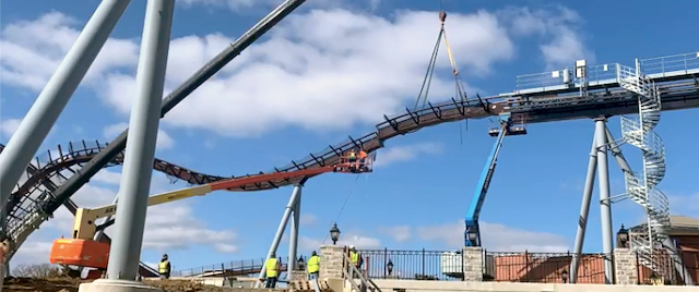 Hersheypark places final track piece for Candymonium