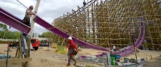 Busch Gardens completes track work on Iron Gwazi