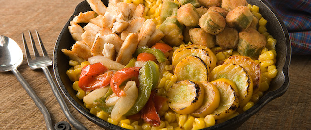 Bored and hungry? Make Silver Dollar City's Succotash Skillet