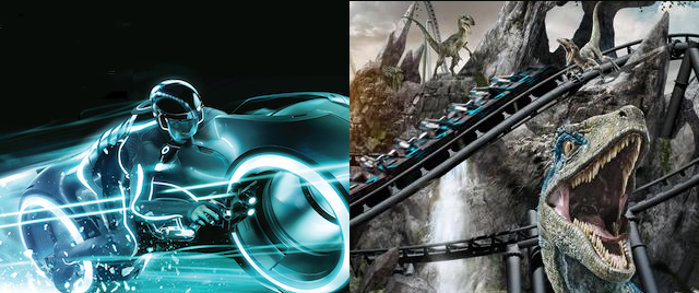 Who Wins 2021: Disney's TRON or Universal's VelociCoaster?