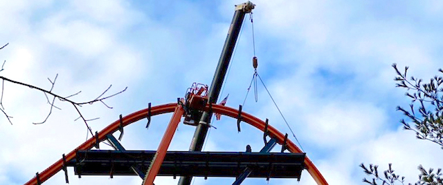 Six Flags Great Adventure Tops Off Jersey Devil Coaster