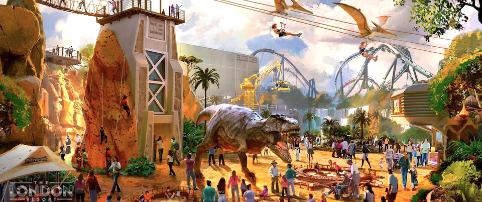 Flying Coaster to Lead The London Resort's Dinosaur Land