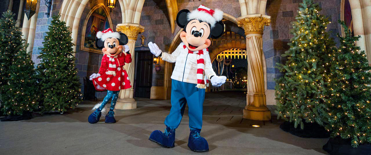 Mickey and Minnie Get New Holiday Looks at Disneyland