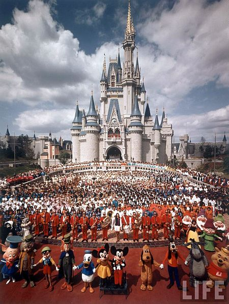 Life Magazine cover photo of the opening of Walt Disney World