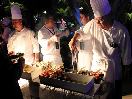 Chefs grilling at the Disneyland party