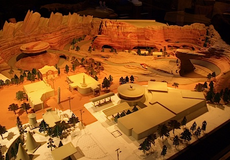 Scale model of Cars Land
