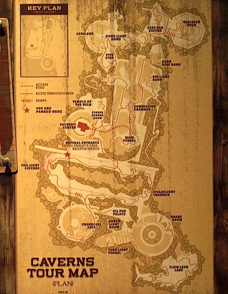 Caverns Tour Map