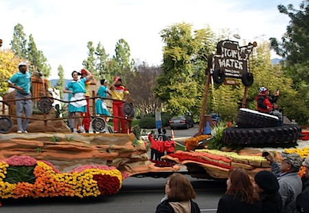 Cars Land float