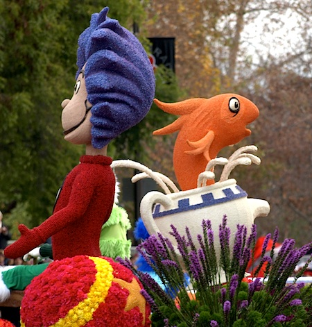 Dr. Seuss float in the Rose Parade