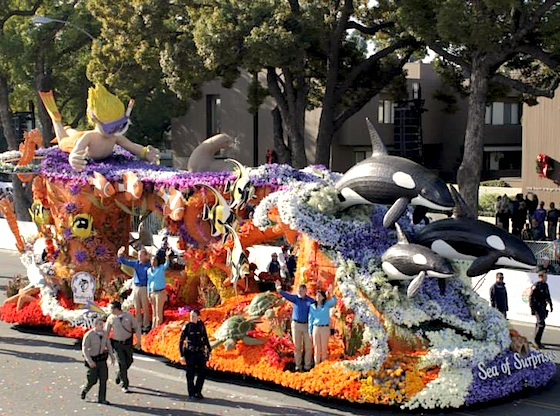 SeaWorld 2014 Rose Parade float