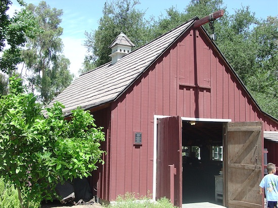 Close-up of Walt's barn