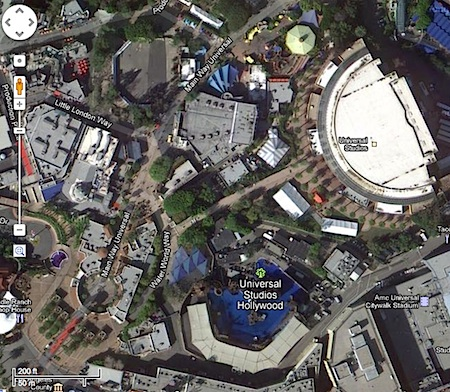 Google Map of Universal Studios Hollywood