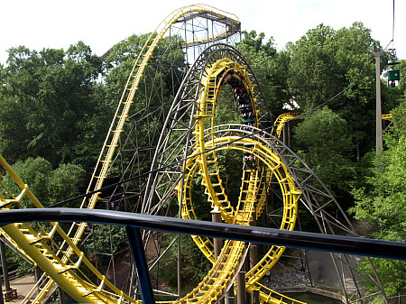 Trees surround Busch Gardens' Loch Ness Monster