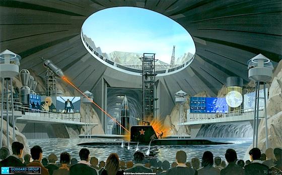 James Bond theme park stunt show concept