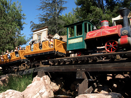 Big Thunder Mountain Railroad train at Disneyland