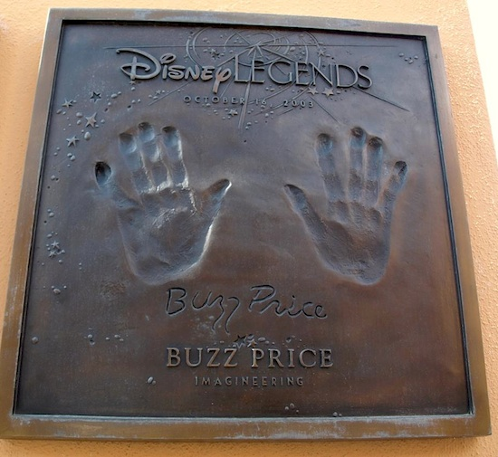 Buzz Price's Disney Legends plaque
