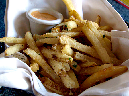 Garlic french fries at Disneyland's Cafe Orleans