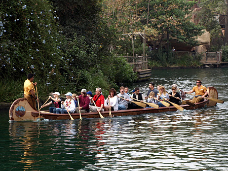 Canoes at Disneyland