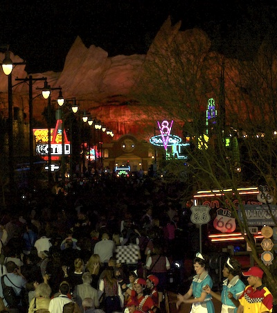 Cars Land party