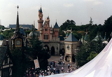 Sleeping Beauty's Castle, from the Skyway