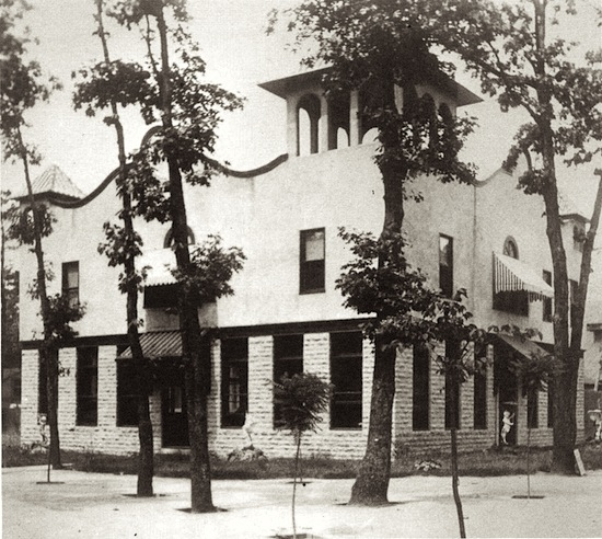 old picture of the administration building