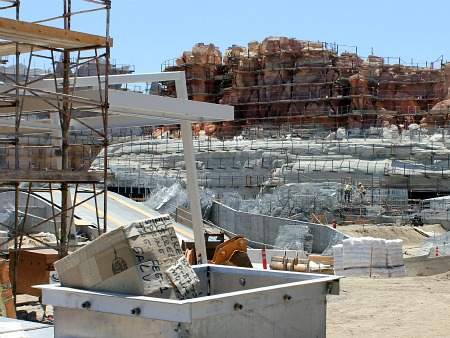 Radiator Springs Racers, under construction