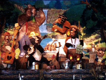 The Five Bear Rugs, in the Country Bear Vacation Hoedown