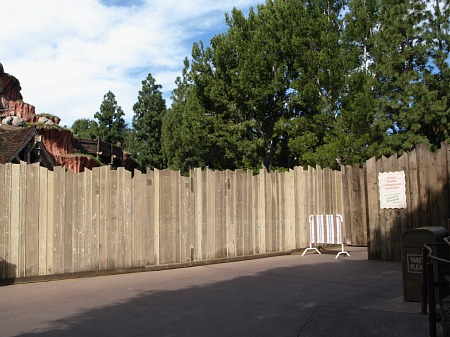 Critter Country construction wall
