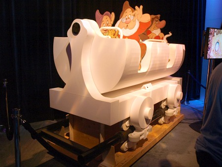 Seven Dwarfs Mine Train car mock-up