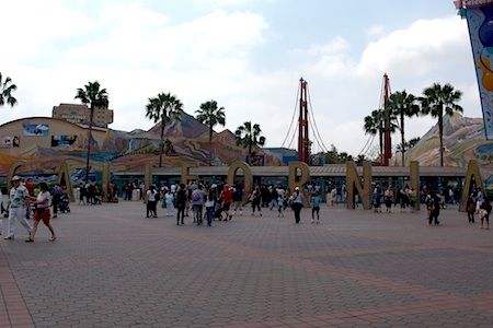 The old entrance to California Adventure