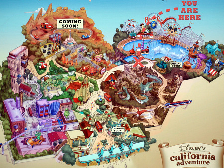 Disney California Adventure Map 2013