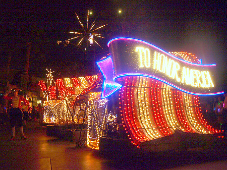 America float in Disney's Electrical Parade