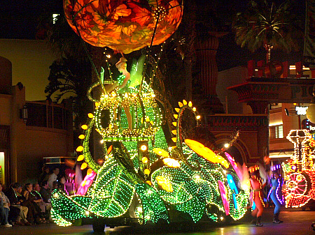 Tinkerbell's float in Disney's Electrical Parade