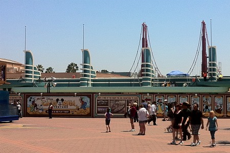California Adventure entrance under construction
