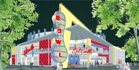 Artist concept of Splitsville at Downtown Disney