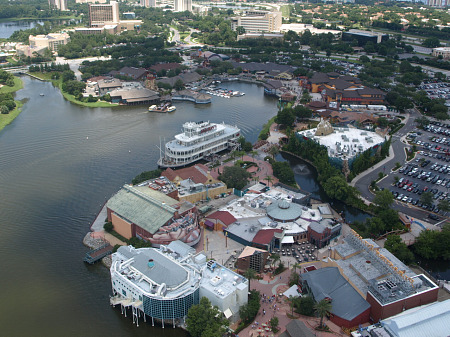 Aerial view of Downtown Disney