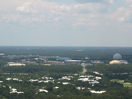 Epcot, from the air