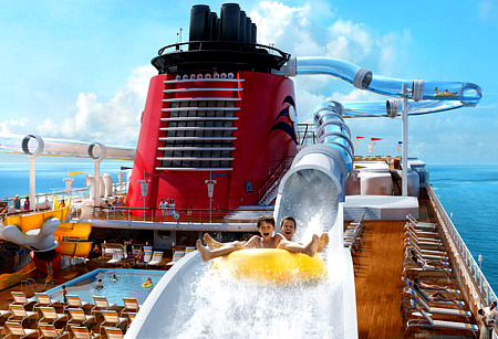 Disney Dream cruise ship water coaster