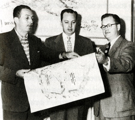 Walt Disney, with CV Wood and Buzz Price