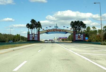 Driving through Walt Disney World