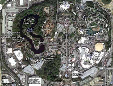 Google Map of Disneyland Park