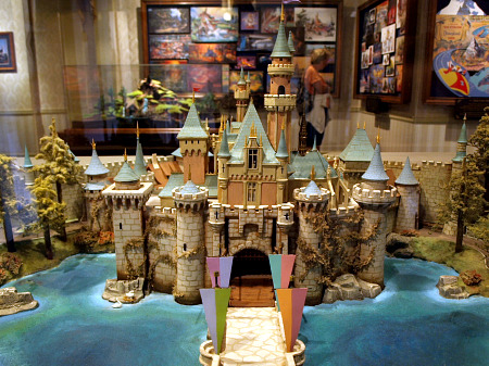 Model of Disneyland's Castle