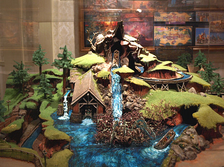 Model of Splash Mountain