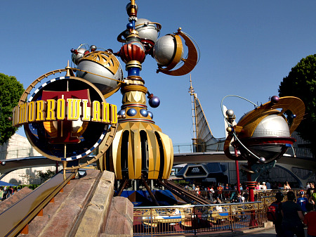 Tomorrowland at Disneyland in California