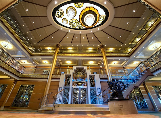 Lobby of the new Disney Magic